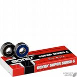 "BONES ""Bearings - Swiss 6 Ball"" Skateboard Longboard BEARINGS 608  Sets of 8"
